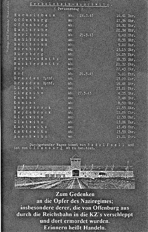 Auschwitz-Gedenktafel am Bahnhof - Offenburg - Badische