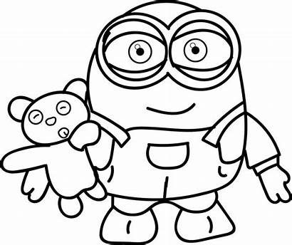 Minion Coloring Printables Pages Printable