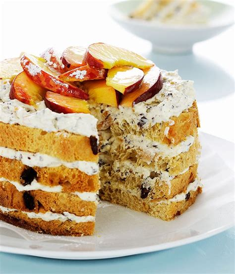 dessert recipes using panettone panettone ricotta and cake gourmet traveller