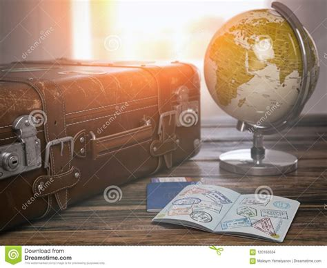World Travel Earth Passport 3d Stock Images 4 Photos