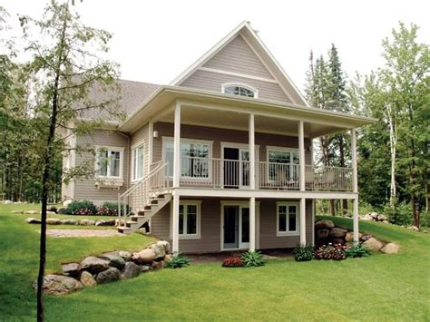 bungalow house plans with basement bungalow walkout basement house plans at front 9889