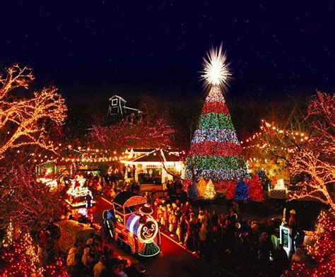 silver dollar city christmas lights by branson missouri