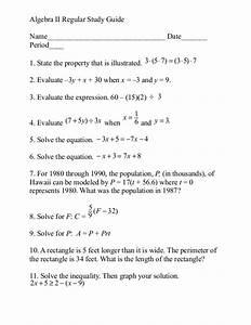 Algebra Ii Study Guide