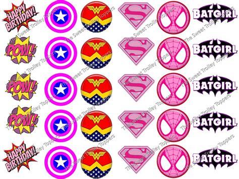 cup marvel template pink girl marvel dc superhero logos edible icing rice