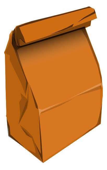 Bag Paper Clipart Lunch Brown Paperbag Clip
