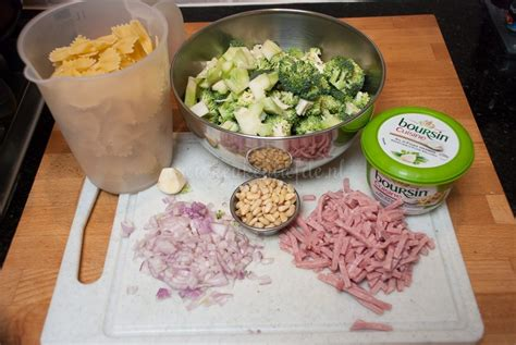 boursin cuisine pasta boursin met ham en broccoli keuken liefde