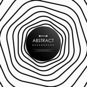 Abstract black and white stripe art line of circle pattern ...