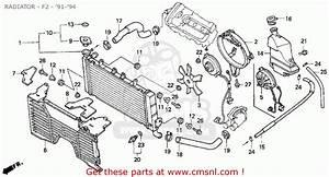 Honda Cbr600f2 Supersport 1993  P  Usa Radiator - F2 -  U0026 39 91- U0026 39 94