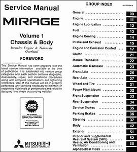 1997 Mitsubishi Mirage Repair Shop Manual Set Original