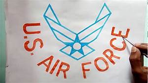 Us Air Force Birthday Logo Drawing  How To Draw The Us Air Force Logo