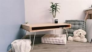 Table Tres Basse : diy fabriquer une table basse avec des hairpin legs diy ~ Teatrodelosmanantiales.com Idées de Décoration
