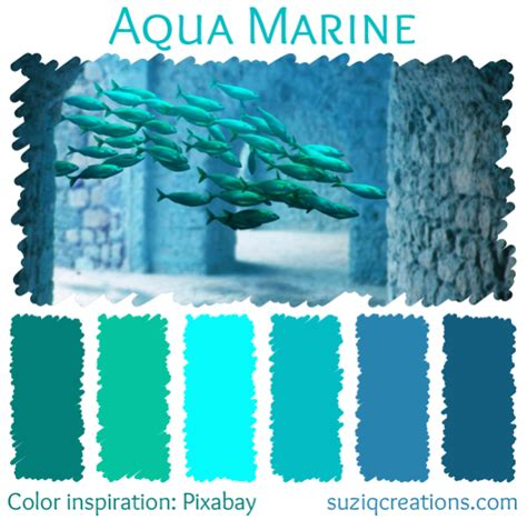 Color Schemes Aqua by Dive Into With 4 New Color Schemes Suziq Creations