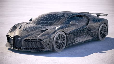 While both bugatti models look outrageous, it's not difficult to tell them apart: Bugatti Divo 2019 3d model - CGStudio