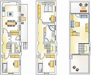 Langes Schmales Haus Grundriss : pin von bohemian minimalist auf narrow house grundriss haus pl ne und rund ums haus ~ Orissabook.com Haus und Dekorationen