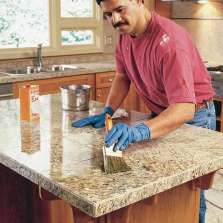 how to clean kitchen counter tile grout 3 easy maintenance tips for granite countertops modern 9343