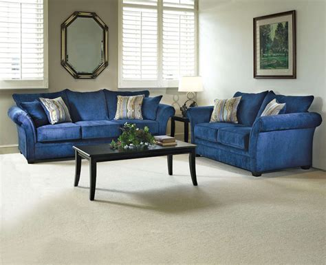The Elizabeth Royal Blue Living Room Set. Fit For A Queen