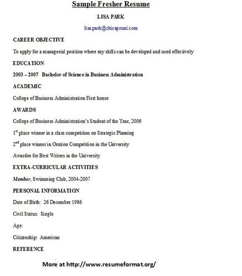 Tips For Resume For Freshers by The World S Catalog Of Ideas