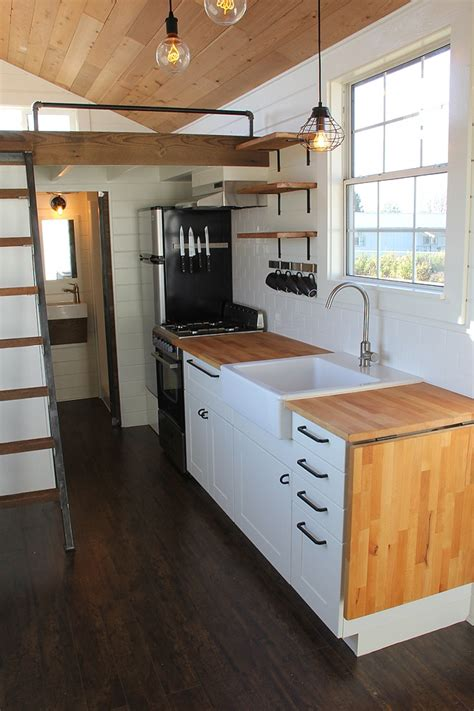 tiny house town modern rustic tiny home  bellingham