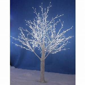 white snowy twig tree white led lights indoor outdoor With outdoor light up twig tree