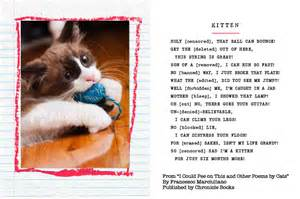 cat poems i could on this and other poems by cats the book