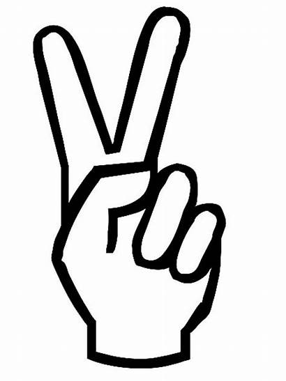 Peace Coloring Hand Sign