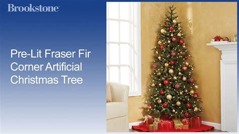 corner christmas tree pre lit fraser fir corner artificial tree
