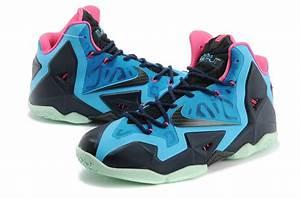 2014 Trendy Nike Lebron James 11 Shoes Black Blue Pink Sale