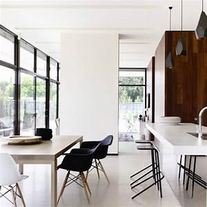 Amenager salon salle a manger et cuisine ouverte cuisine for Petite cuisine équipée avec meuble de salle a manger contemporain
