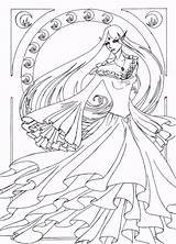Nouveau Line Coloring Deviantart Pages Drawings Naro Colouring Lineart Adult Fantasy Books Popular Funny Coloringhome sketch template