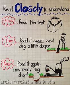 Creating Readers And Writers  Close Reading  A Chart