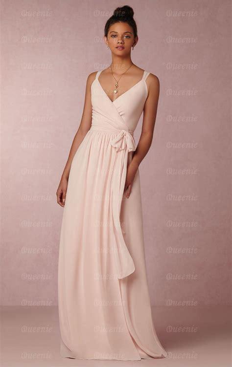 Designer Light Pink Long Bridesmaid Dress Bnnde0000