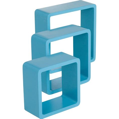 etag 232 re 3 cubes bleu atoll l 28 x p 28 l 24 x p 24 l 21 x p 21 cm ep 15 mm leroy merlin