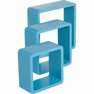 Etagere Cube But : etag re 3 cubes bleu atoll l 28 x p 28 l 24 x p 24 l 21 x p 21 cm mm leroy merlin ~ Teatrodelosmanantiales.com Idées de Décoration