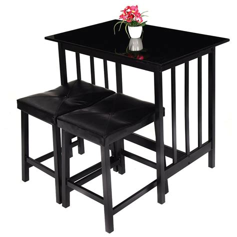 pcs modern counter height table   chairs dining set