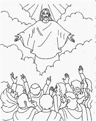 Jesus Coloring Ascension Christ Pages Heaven Getcoloringpages