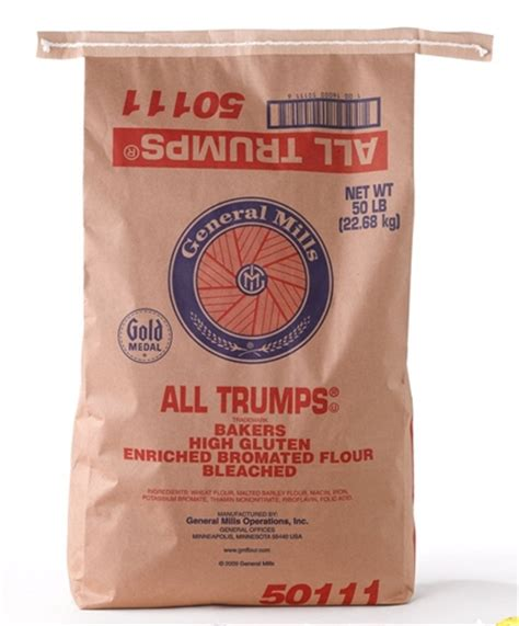 Flour Bleached Enriched Malted Bromated All Trumps Wheat