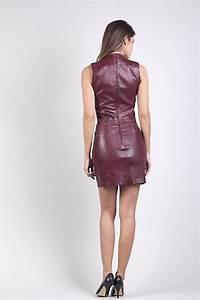 robe cuir strech agneau bordeaux h13cl03 pellessimo cuir With robe imitation cuir
