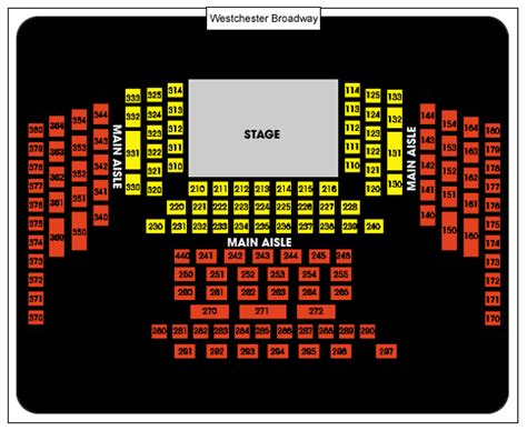 westchester broadway theatre seating chart seating chart westchester broadway theatre seating chart ticket solutions