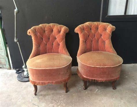 paire fauteuils crapauds