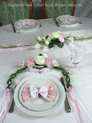 taufdeko rosa schmetterlinge silber und rosen shop
