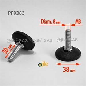 30 Pieds En Metre : pied r glable filet m8 x 30 mm pied r glable filet ajile ~ Dailycaller-alerts.com Idées de Décoration