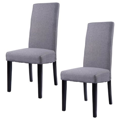 set   fabric dining chair armless accent upholstered
