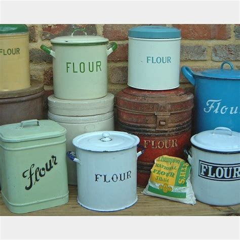 flour sugar bins  vintage kitchen store