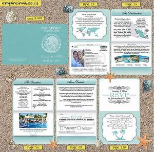 Custom destination passport wedding invitations canada for Cheap destination wedding invitations canada