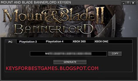 bannerlord demo activation key