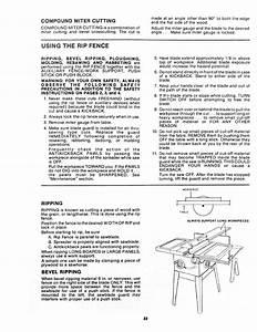 Craftsman 113241680 User Manual 10 Inch Flex Drive Table