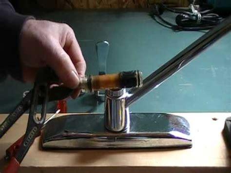 repair  leaky kitchen faucet cartridge single