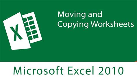excel moving  copying worksheets youtube