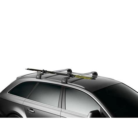 2 porte skis sur barres de toit skiclick thule 7291 feu vert
