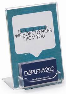 Business card display with 5quot x 7quot acrylic sign holder for Business card display frame